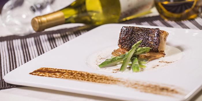 Pan Seared Black Cod Liquorice and Sweet Garlic Sauce, Alto 88, Causeway Bay, Hong Kong
