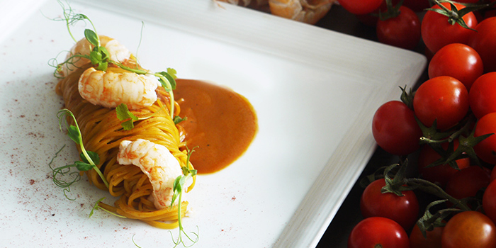 Tagliolini with Scampi and Paprika from Aura at National Gallery Singapore in City Hall, Singapore