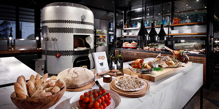 Pizza Station from Beach Road Kitchen in JW Marriott Hotel Singapore South Beach in City Hall, Singapore