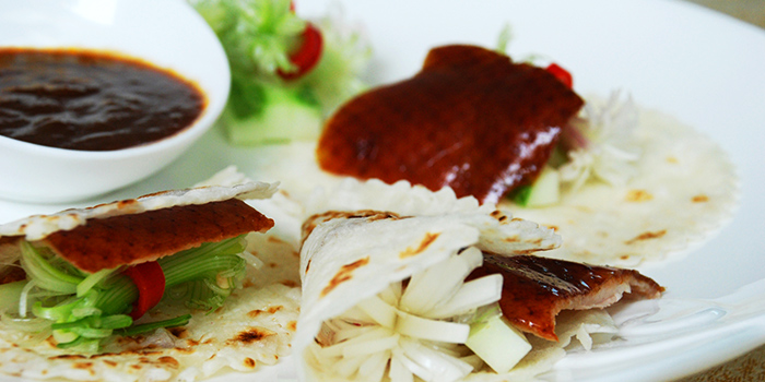 Sliced Peking Duck from Bee Heong Palace Restaurant in Bedok, Singapore