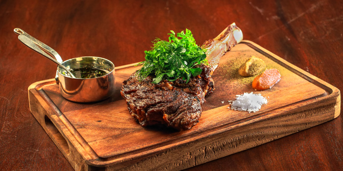 Grilled Tomahawk from Tables Grill Restaurant at Grand Hyatt Erawan, Bangkok