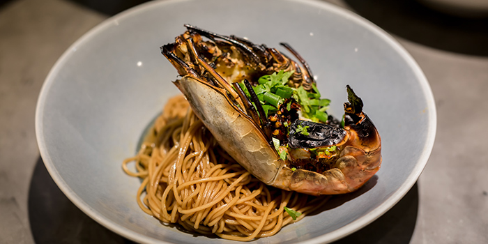 Grilled King Prawn Lau Gan Ma La Mian from Blue Lotus - Chinese Noodle Bar at Ascent in West Coast, Singapore