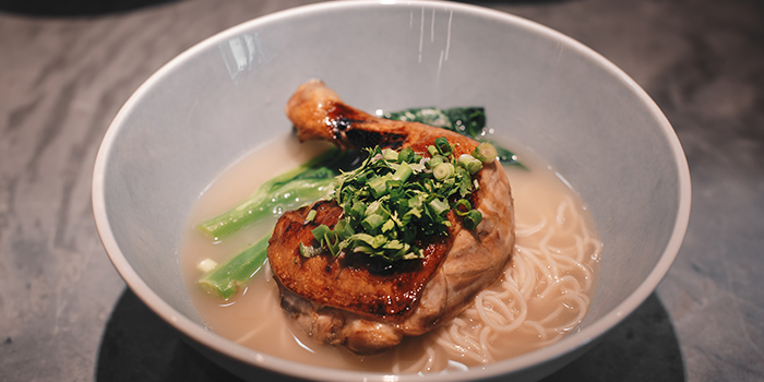 Grilled Soya Chicken Drumstick La Mian from Blue Lotus - Chinese Noodle Bar at Ascent in West Coast, Singapore