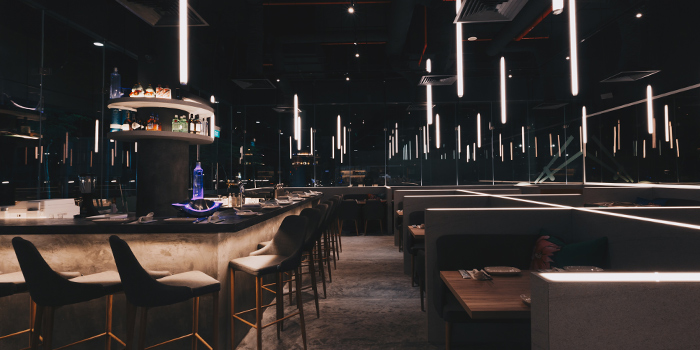 Interior of Blue Lotus - Chinese Noodle Bar at Ascent in West Coast, Singapore