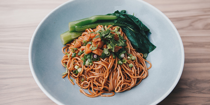 Signature Crispy Pork Lard Truffle Noodle from Blue Lotus - Chinese Noodle Bar at Ascent in West Coast, Singapore