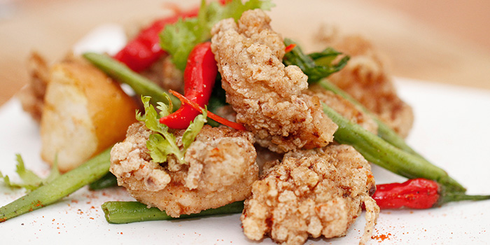 Crispy Chicken Thigh from Carousel at Royal Plaza on Scotts in Orchard, Singapore