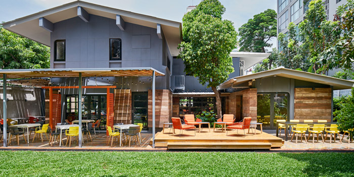 Garden from Freebird Bangkok  on Sukhumvit Soi 47, Bangkok