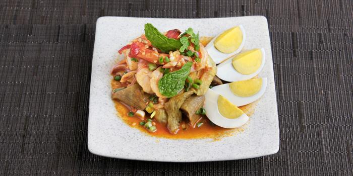 Grilled Eggplant Salad With Shrimp from Mango Tree Surawong in Surawong Road, Bangkok