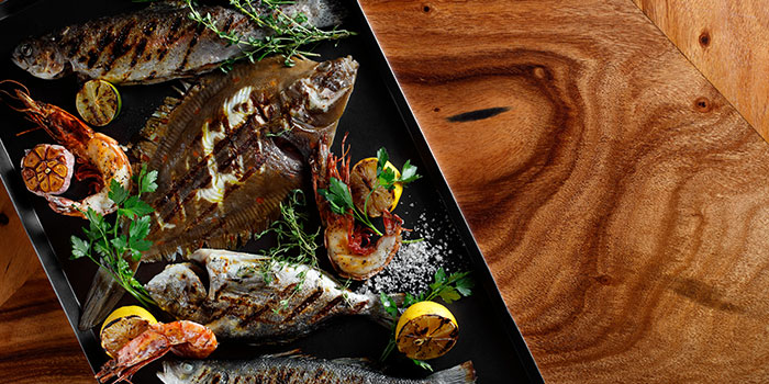 Grilled Seafood from Beach Road Kitchen in JW Marriott Hotel Singapore South Beach in City Hall, Singapore