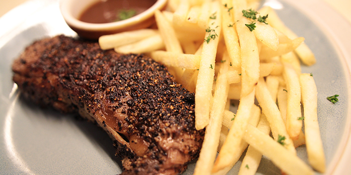 Black Pepper Steak from Lowercase in Little India, Singapore