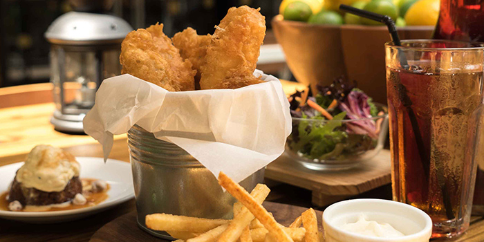 Fish & Chips from Oriole Coffee + Bar at Pan Pacific Serviced Suites in Orchard, Singapore