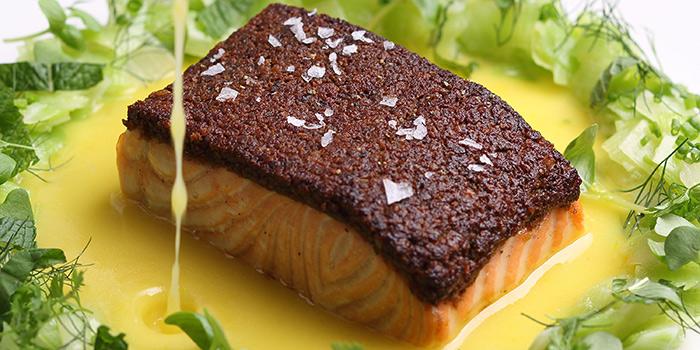 Porcini Crusted Salmon, Mercato, Central, Hong Kong