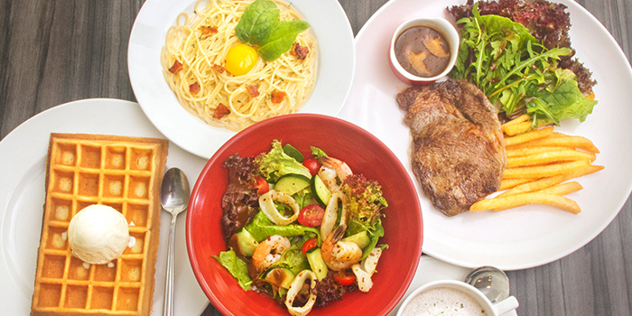 Food Spread from The Grumpy Bear at Thomson Plaza in Thomson, Singapore