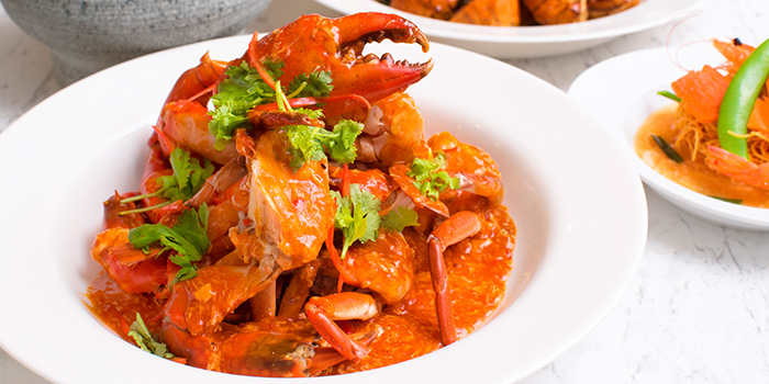 Chilli Crab from Straits Cafe at Rendezvous Hotel in Dhoby Ghaut, Singapore