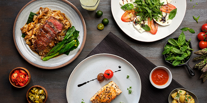 Food Spread from Se7enth at OUE Downtown 1 in Tanjong Pagar, Singapore