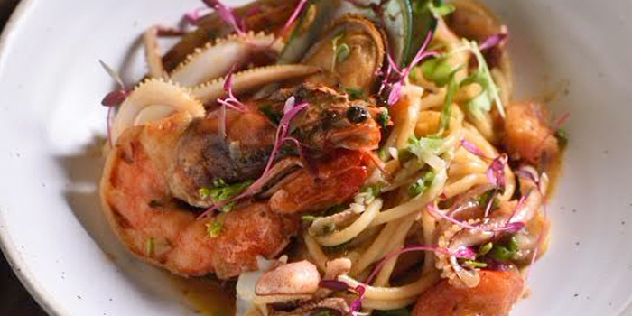 Spaghetti Seafood from GISMO Coffee & Roasters at 39 Boulevard, Bangkok