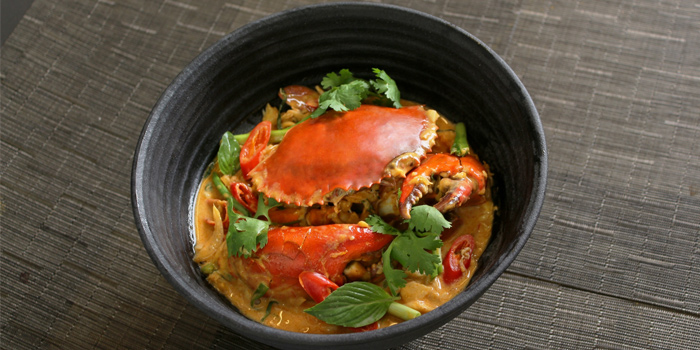 Stir Fried Crab With Yellow Curry from Mango Tree Charoenkrung at O.P. Garden, Bangkok