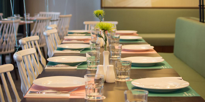 Dining Table of The Marmalade Pantry (Downtown) in Oasia Hotel Downtown in Tanjong Pagar, Singapore