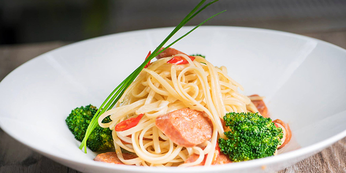Sausage Aglio Olio from Thyme @Rochester in Rochester, Singapore