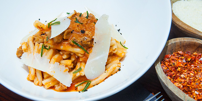 Casarecce with Duck Ragu from &SONS in Chinatown, Singapore