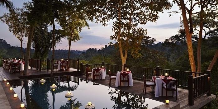 Sunset Setting at Dining Corner, Ubud