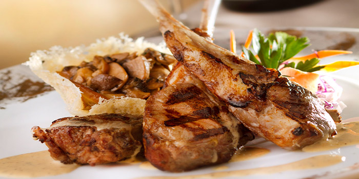 Grilled Lamb Chop Served with Creamy Black Truffle Sauce, Alto 88, Causeway Bay, Hong Kong