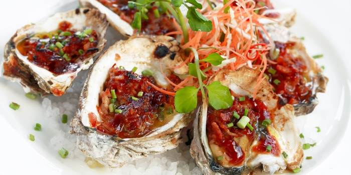 Oysters Kilpatrick at Meads in Bali