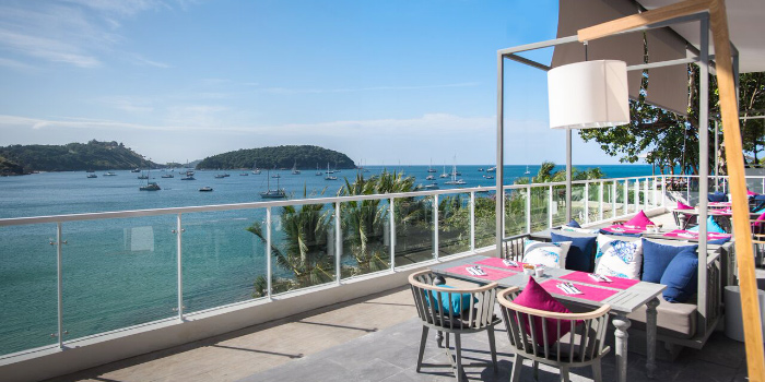 Restaurant Atmosphere of Cosmo in Nai Harn, Phuket, Thailand.