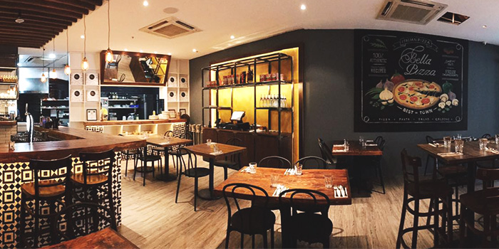 Dining Area of Bella Pizza in Robertson Quay, Singapore