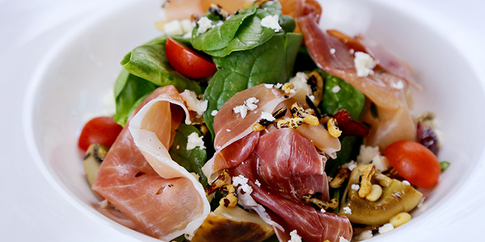 Parma Ham & Spinach Salad from Barnacles at Customs House in Fullerton, Singapore