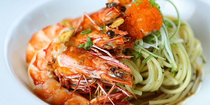 Tiger Prawn Linguine Arrabiata from Barnacles at Customs House in Fullerton, Singapore