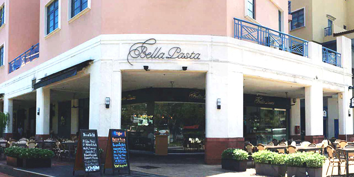 Exterior of Bella Pasta in Robertson Quay, Singapore