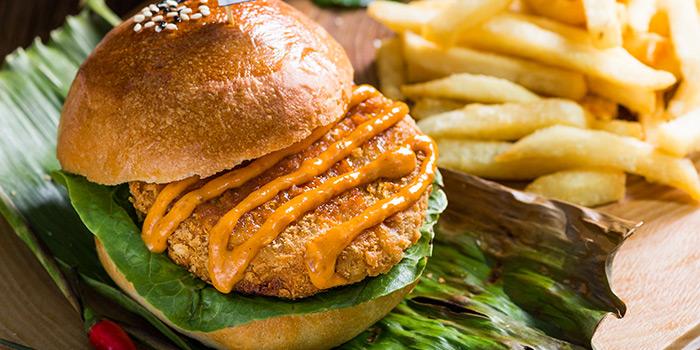 Crispy Otah Fish Burger (National Day) from GRUB in Ang Mo Kio, Singapore