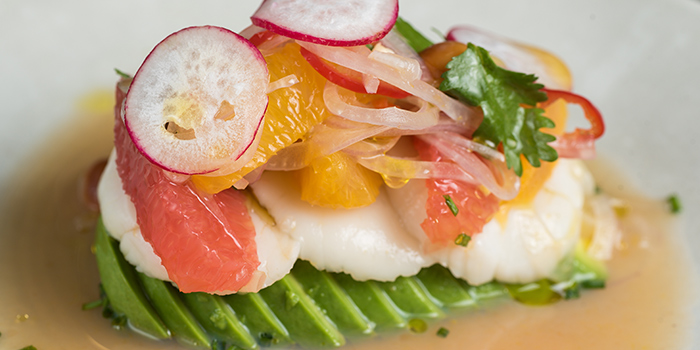 Hokkaido Scallop Ceviche from The Lokal in Chinatown, Singapore