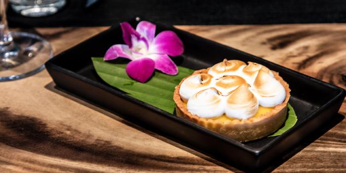 Lemon Meringue Pie from Little Paris Phuket Restaurant in Cherngtalay, Phuket, Thailand.