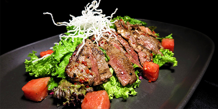 Rib Eye Salad from Mad About Sucre in Chinatown, Singapore