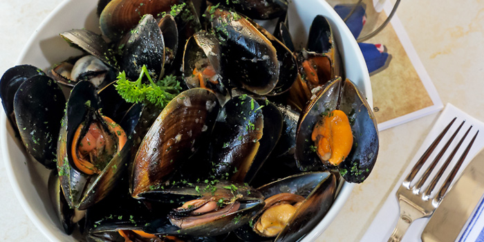 Mussels Marinere from Brasserie Cordonnier in Sukhumvit Soi 11, Bangkok