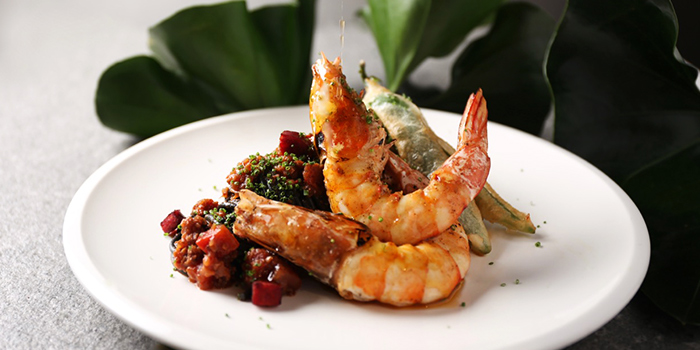 Ang Kar Prawns Tonnarelli from NUDE Seafood in Marina Bay Financial Centre in Raffles Place, Singapore