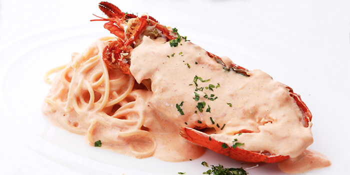 Lobster Linguine from Five Nines (999.99) at Cuppage Plaza in Orchard, Singapore