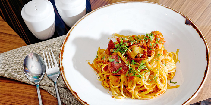 Prawn and Chorizo Pasta from PORTA in Park Hotel Clarke Quay in Robertson Quay, Singapore