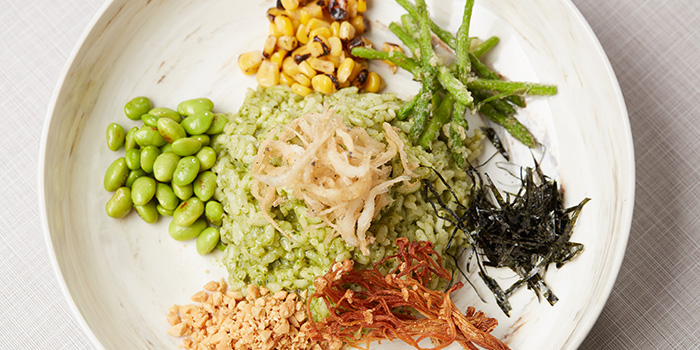 """""""Lei Cha"""" Thunder Tea Risotto (1-31 Aug) from SPRMRKT Kitchen & Bar in Robertson Quay, Singapore"""