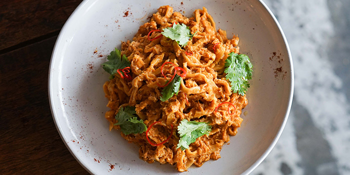 Chilli Crab Tagliatelle (1-11 Aug) from Sarnies at Telok Ayer in Raffles Place, Singapore