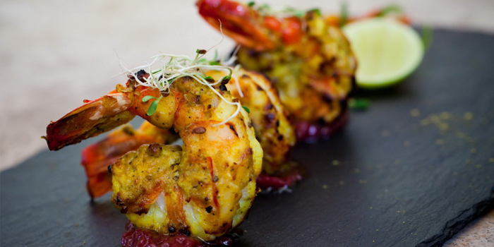 Sarson Jhinga from Indus Contemporary Indian Dining in Upper Sukhumvit, Bangkok
