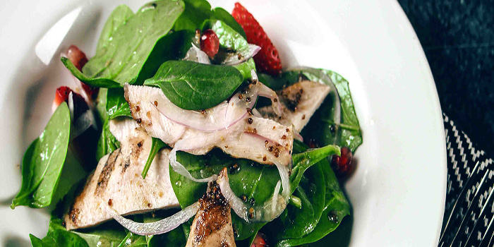 Smoked Chicken Baby Spinach Salad, Bungalow, Lan Kwai Fong, Hong Kong