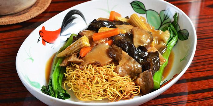 Spring Vegetables Crispy Noodle, Lee Lo Mei, Central, Hong Kong
