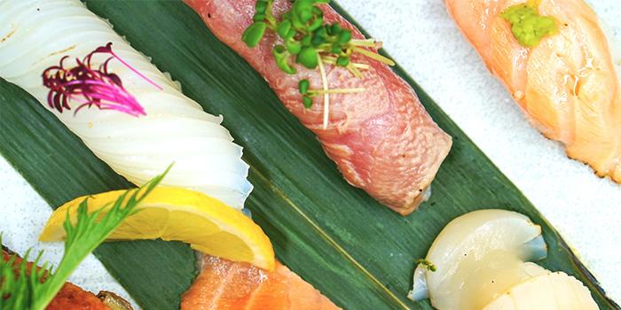 Close-up of Sushi from TEN Sushi & Bar by Marusaya in Robertson Quay, Singapore