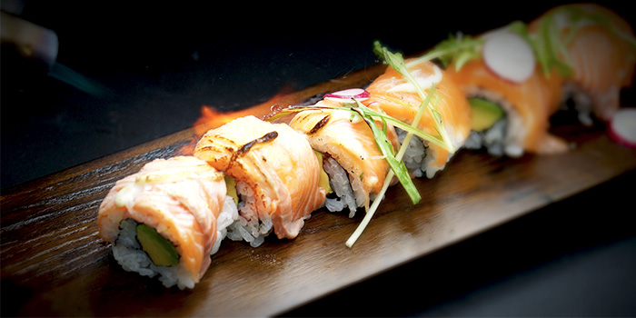 Seared Salmon Roll from TEN Sushi & Bar by Marusaya in Robertson Quay, Singapore