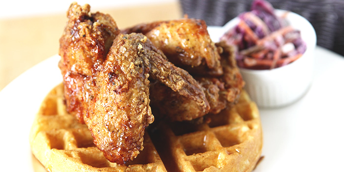 Chicken & Waffles from The Fabulous Baker Boy in Clarke Quay, Singapore