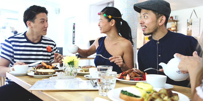 Diners at The Fabulous Baker Boy in Clarke Quay, Singapore