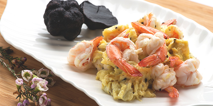 Black Truffle Prawns Omelette from Xi Yan Shaw in Orchard, Singapore